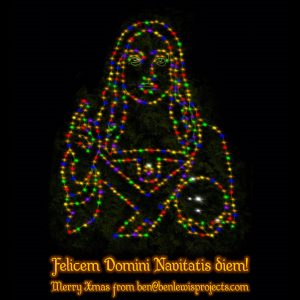 The Salvator Mundi Xmas Card